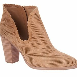Vince Camuto Perforated Suede Bootie NEW